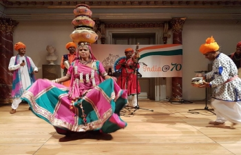 Rajasthani Folk Dance performed to packed audience in National Museum, Copenhagen on 21 October 2017.