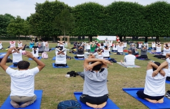 Celebration of 4th International Day of Yoga 2018 in Copenhagen