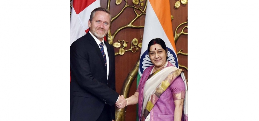 Smt. Sushma Swaraj Minister for External Affairs held delegation level talks with Danish Foreign Minister Mr. Anders Samuelsen in New Delhi on 27th  November 2017