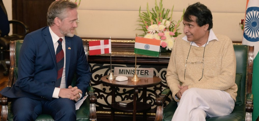 Minister of Commerce and Industry Mr. Suresh Prabhu met with Danish Foreign Minister Mr. Anders Samulesen and discussed ways to strengthen bilateral commerce and trade between India and Denmark on 17 Dec 2018 in New Delhi