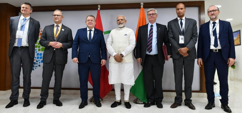 PM Narendra Modi met Danish PM Lars Løkke Rasmussen & Danish delegation on 18th January 2019 at Vibrant Gujarat Summit