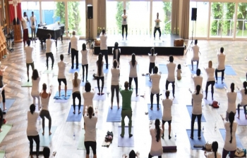 Celebrations of 5th International Day of Yoga in Denmark