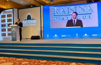 Danish Foreign Minister Mr. Jeppe Kofod speaking at Raisina Dialogue 2020 on  15 January 2020 in New Delhi
