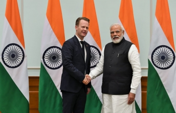 Danish Foreign Minister Mr. Jeppe Kofod met Hon'ble Prime Minister Narendra Modi on sidelines of RAISINA DIALOGUE on 16 January 2020 in New Delhi