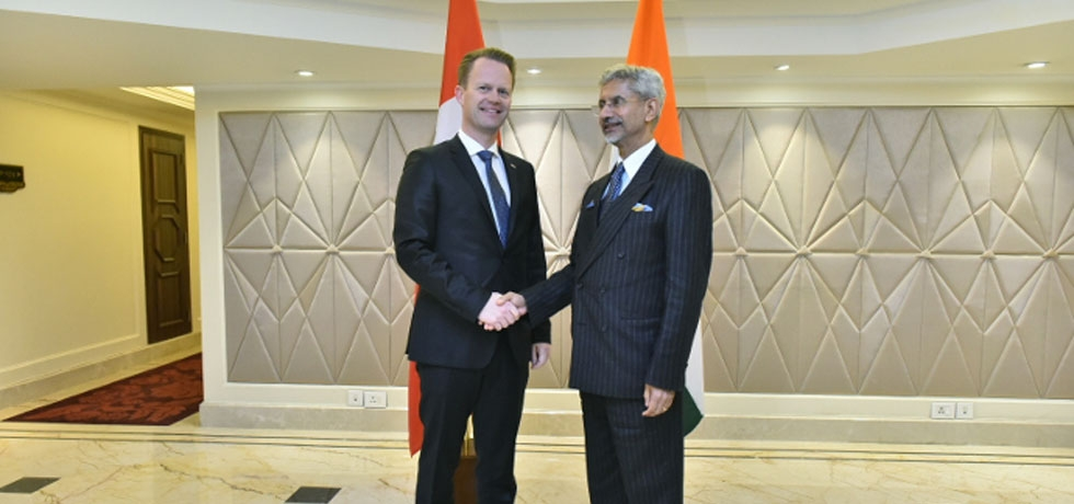 Danish Foreign Minister Mr. Jeppe Kofod met EAM Dr. S Jaishankar on sidelines of RAISINA DIALOGUE on 16 January 2020 in New Delhi