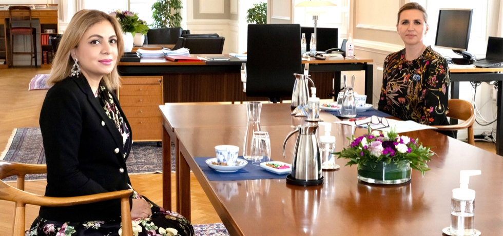 Ambassador Pooja Kapur paid a courtesy call on the Prime Minister of Denmark H.E. Ms. Mette Frederiksen on 13 May 2021