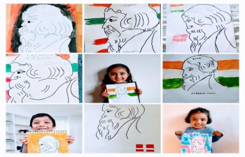 To mark the 160th Birth Anniversary of Rabindranath Tagore, Embassy of India, Copenhagen organised an art workshop for elementary school children