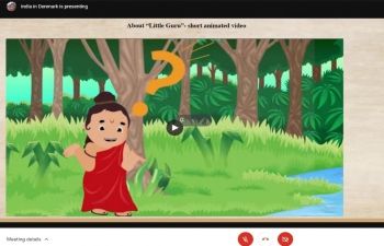 """World's first gamified Sanskrit Learning App """"Little Guru"""" was launched at the Embassy of India, Copenhagen on Friday, 9th April 2021."""