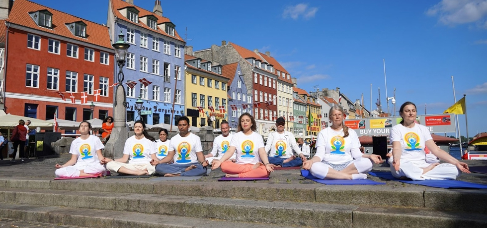 Celebrations of 7th International Day of Yoga in Copenhagen on 20th June 2021