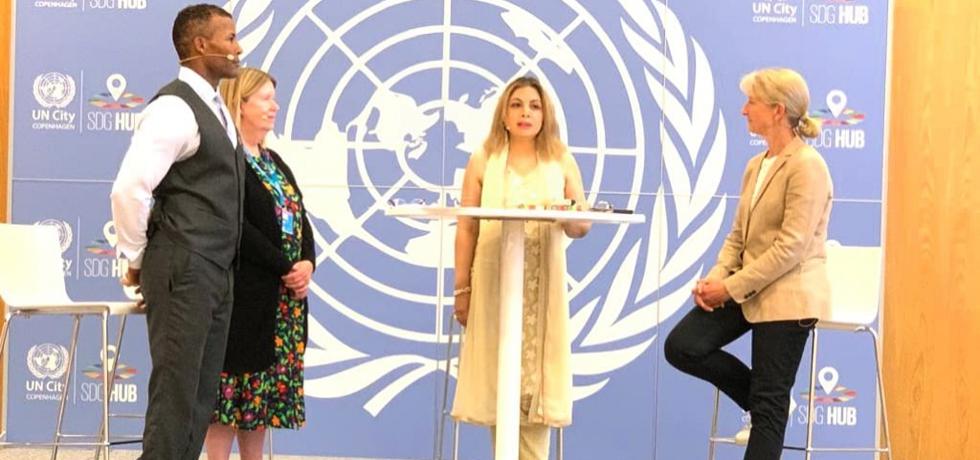 Ambassador Pooja Kapur participated in International day of Yoga  2021 Celebration at UN City Copenhagen