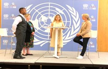 Ambassador H.E Ms Pooja Kapur participated in International day of Yoga 2021 Celebration at UN City Copenhagen