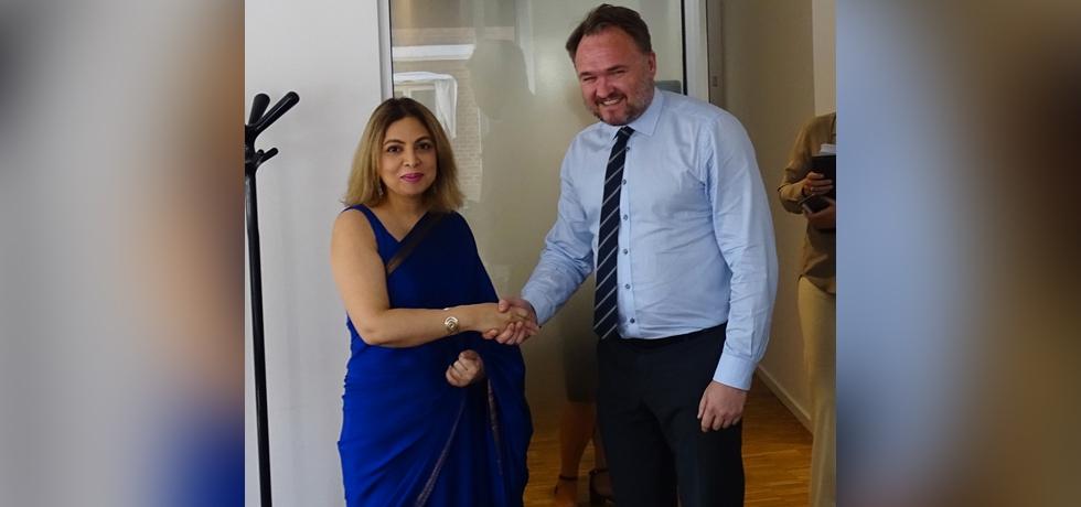 Ambassador Pooja Kapur called on H.E. Mr. Dan Jørgensen, Minister for Climate, Energy and Utilities.