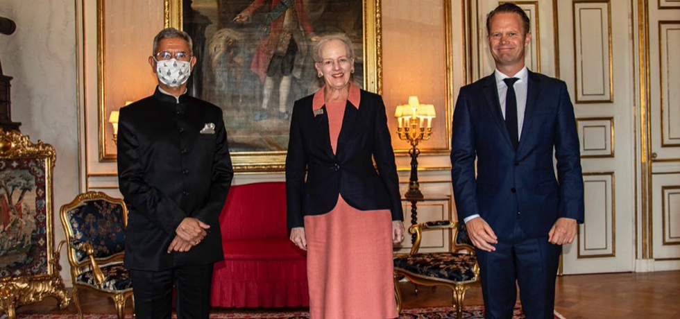 H.M. Queen Margrethe II received H.E. Dr. S. Jaishankar, Hon'ble External Affairs Minister of India, during his official visit to Denmark, 04 September 2021.
