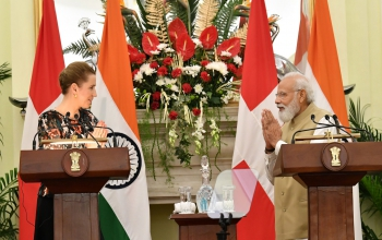 Text of PM Shri Narendra Modi's address at a joint press meet with Prime Minister of Denmark H. E. Ms. Mette Frederiksen
