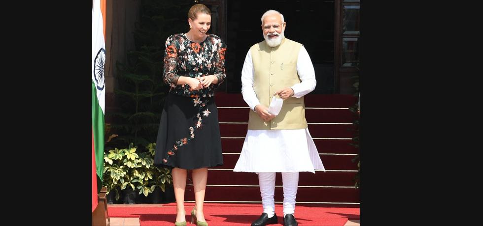 PM Shri Narendra Modi ji met Danish PM Mette Frederiksen at Hyderabad House to hold bilateral talks on 9th Oct 2021