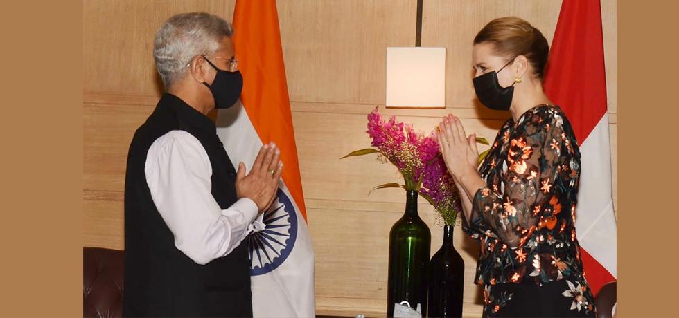 EAM Dr. S. Jaishankar welcomed Denmark Prime Minister H.E. Ms. Mette Frederiksen on her first visit to India.