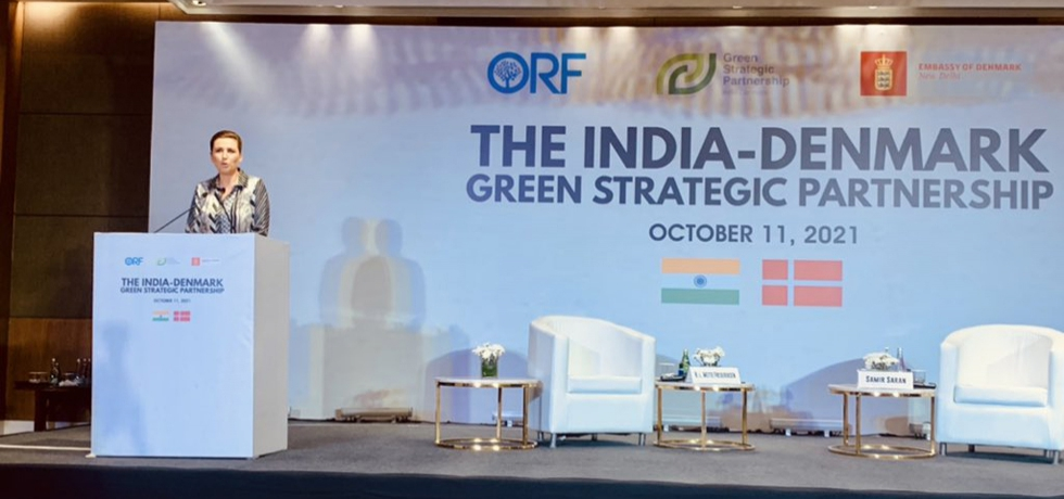 H.E. Ms. Mette Frederiksen gave special address on the India-Denmark Green Strategic Partnership at event hosted by Observer Research Foundation