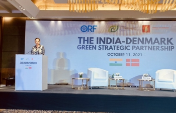 PM of Denmark, H.E. Ms. Mette Frederiksen gave special address on the India-Denmark Green Strategic Partnership at event hosted by Observer Research Foundation