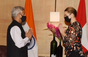 EAM Dr. S. Jaishankar welcomed Danish Prime Minister H.E. Ms. Mette Frederiksen during her first visit to India